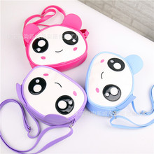 Girls Cute Messenger Cartoon Bag for Kids Embroidery Big Eyes Mouse 3D Designed 2016 Summer New Fashion Arrival Girls Coin Bag