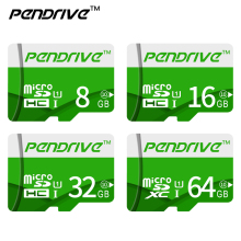 Pendrive Real capacity Green micro sd card high speed 64GB 32GB 16GB 8GB 4GB memory card 128GB flash mini tf card for cellphone