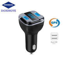 DOXINGYE 2017 New Car GPS tracker Dual USB DC5V 4.2A Car Charger Car Voltage Detector For 12-24V Cars For Phone Ipad