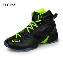 2017 New Brand FLCPAY Men Basketball Shoes Authent Breathable Comfortable Sneakers Outdoor Athletic Training Rubber Sports Shoe