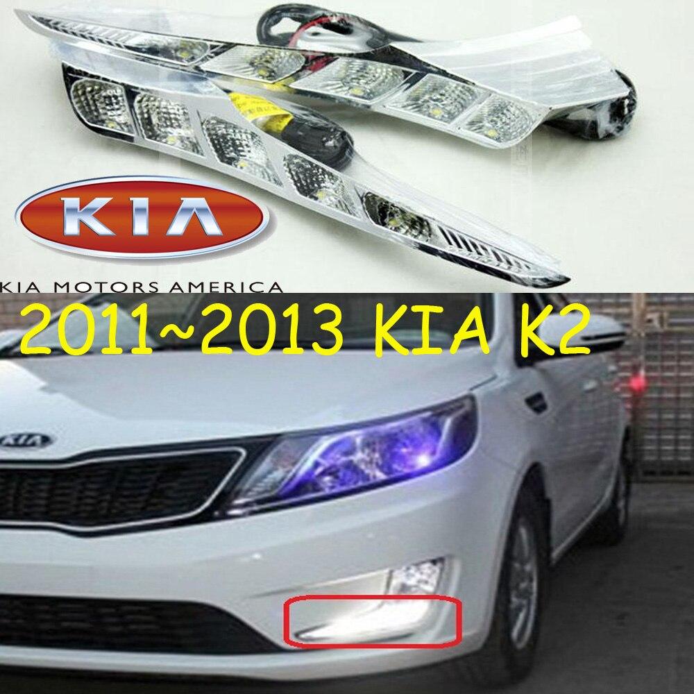Car-styling,KlA K2 daytime light,Rio 2011~2014/2015~2016,chrome,LED,Free ship!2pcs,KlA K2 fog light,car-covers,K2,K 2<br>