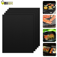 5 Pcs Non-Stick Surface Heat Resistant BBQ Grill Mats 40*33cm Durable Barbecue Baking Mats Grill Pad Sheets For Outdoor Picnic