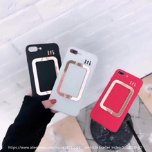 Big Metal Square Handle Cases For iPhone 7 7plus Carry & Grip Fashion Style Christmas Gift TPU Phone Shells for iPhone 7 7 Plus(China)