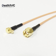RF RP SMA  Male plug Switch MCX Male Right Angle Pigtail Cable RG316 15cm Wholesale Fast Ship