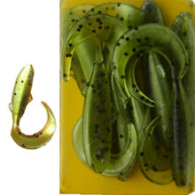 TAIGEK 10Pcs/Lot Lures Soft Bait 47mm 1g silicone bait Worms fishing lure Fishing Takcle Grub Artificial Lures FA-254
