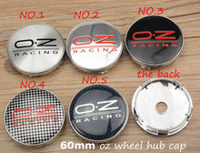 Free Shipping 4pcs 60MM OZ Emblem Wheel Center Cap OZ Sticker Wheel Cover Hub Caps