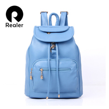 REALER Brand Women Backpack Preppy Style School Bags For Women Retro and Vintage Backpack Students School Bag Female Backpack