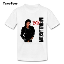 Michael Jackson Bad children's T Shirt Cotton Crew Neck Short Sleeve Tshirt Tops Boy Girl 2017 Rock N Roll Star T-shirt For Baby