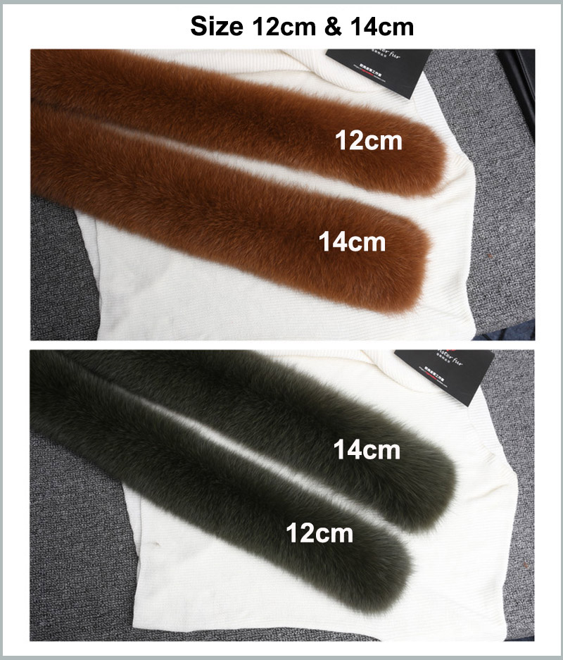 fox fur collar details size