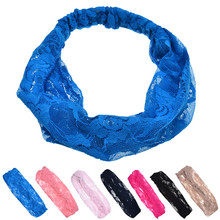 Headband 1PC Lace Rose Flower Hair Band multifunctional stylish hair accessories korean acessorio para cabelo