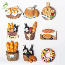 Creative Food Shape Fridge Magnets Sticker Cute Style Decorative Refrigerator Resin Souvenir Stickers Home Decor Business Gifts
