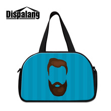 Dispalang Travel Bag Moustache Pattern Travel Bags Unisex Business Trip Traveling Bags Luggage Carry On Bag with Shoes Storage
