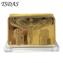 Jesus Christ Cross Replica .999 24k Gold Bullion The Passion of the Christ Souvenir Bar Coin 1pc Drop Shipping