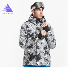 VECTOR Brand Winter Ski Jackets Men Outdoor Thermal Waterproof Snowboard Jackets Climbing Snow Skiing Clothes HXF70002(China)