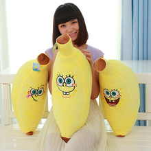 2016 New 60cm 3 version  Sponge Bob Plush Pepputs Toy Banana shape Baby Anime Spongebob doll toy Home Soft Cartoon Cushion