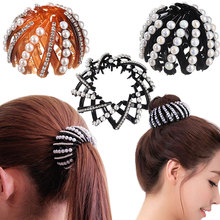 M MISM Girls Bird's Nest Bun Maker Hair Clip High Quality Bud head Bezel Plate Hair Accessories for Women Curler Roller Ornament
