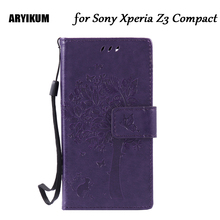 Buy ARYIKUM Sony Xperia Z3 Compact Z3 Mini D5803 D5833 M55W Case Leather Wallet Flip Back Cover Soni Xperia Z3 Compact Coque for $4.74 in AliExpress store