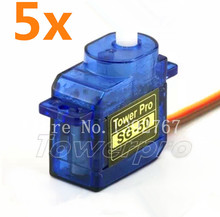 5pcs Tower Pro 5g SG-50 Micro Digital Servo With Plastic Gear For RC Model Car Airplane Helicopter Boat