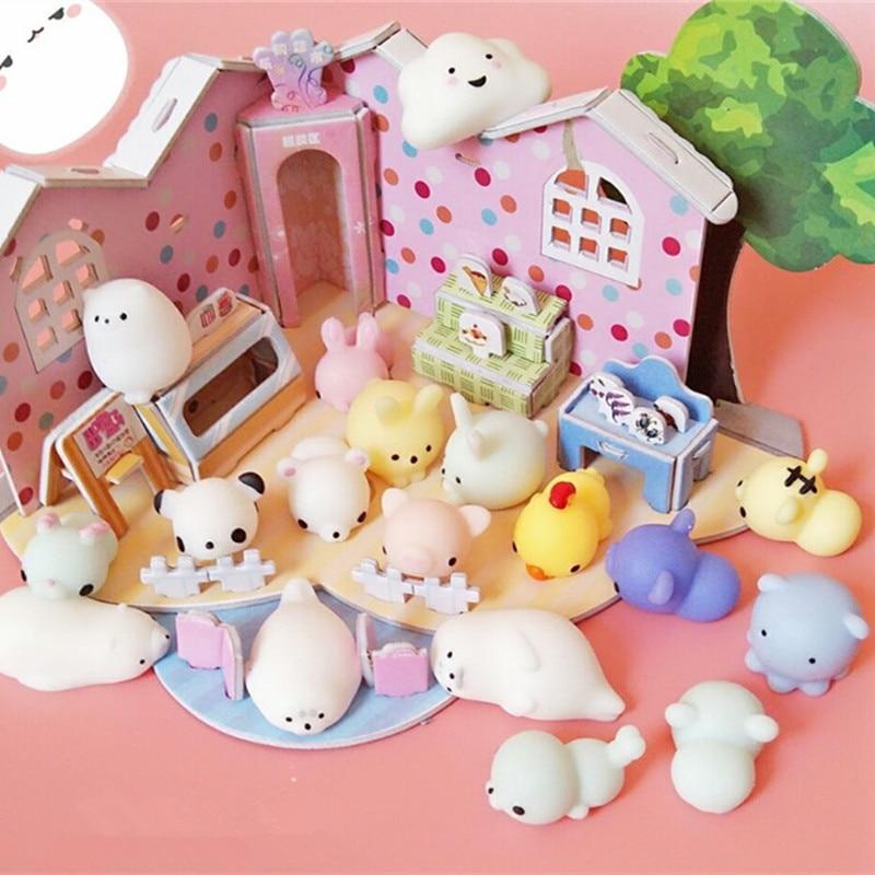 New 16 Pcs Mini Cute Mochi Animals 12