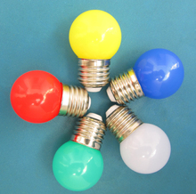 1W LED Coloured ES Golf Ball / Festoon Lamp Bulb - Blue G45 45mm Round E27 red ,green ,blue ,yellow ,warm white(China)