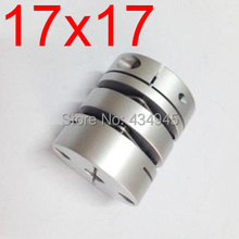 17x17 17mm 17mm Double diaphragm Disc coupling ,electric coupler screw rod Stepper servo motor encoder shaft coupling D39 L49(China)