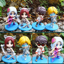Anime game Ashe Katarina Ezreal Lee sin PVC Action Figure Collectible Model doll toy 10cm (4pcs/set)(China)