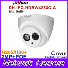 Wholesale Dahua DH-IPC-HDW4233C-A 2MP Dome Network IP Camera Built-in Mic Small IR HD WDR POE H.265/H.264 IPC-HDW4233C-A(China)