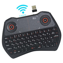 Rii Mini i28 Russian Wireless Keyboard 2.4G Backlight Keyboards Air Mouse Touchpad for PC Smart Android Google TV Box IPTV HTPC