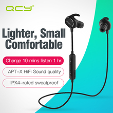 QCY QY19 sports headphones bluetooth V4.1 wireless earphones aptx headset IPX 4 rated sweatproof with MIC for Iphone 8 Samsung