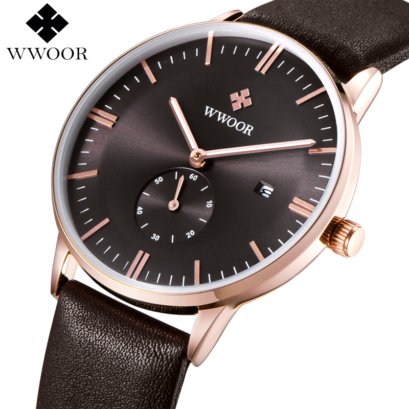 Top Brand Men Genuine Leather Strap Sports Watches Men Quartz Analog Hour Date Clock Male Waterproof Fashion Casual Wrist Watch<br><br>Aliexpress