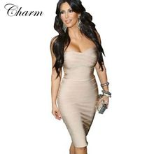 new summer style sexy strapless bodycon kim kardashian dress green white red bule yellow pink nude evening party bandage dresses