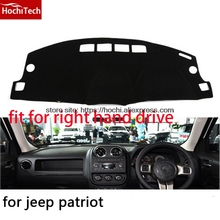 For jeep patriot right hand drive dashboard mat Protective pad black Red car-styling Interior Refit sticker Mat products(China)