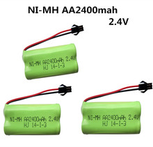 3pcs 2.4V 2400mah AA ni-mh battery rechargeable battery power tools battery remote control electric toys(China)