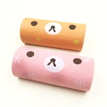 Squishyfun Swiss Roll Kawaii Bear Sponge Cake Toy Super Slow Rising 15cm With Packaging Funny Squeeze Toys(China)
