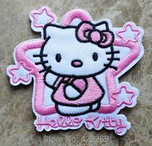 Super Star hello kitty iron on patches,Sew on applique,Wholesale,Brand New,Guaranteed 100% Quality Appliques+ Free Shipping!!!