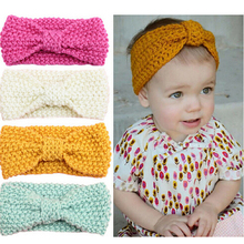 Newborn Crochet Knit Top Knot Elastic Turban Headband Head Wrap Hair Bands Hot Ear Headband Accessories(China)