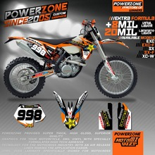 Custom Team Graphics & Backgrounds Decals 3M  Star Stickers Decals Kits For KTM SX SXF EXC XCW EXCF 125 250 300 350 450 525