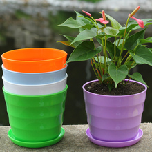 Plastic Flower Pot Succulent Plant Flower Pot For Home Office Desktop Decoration Colorful Garden Supplies pot S4715