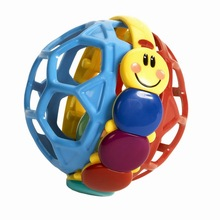 New gorgeous colour Baby educational toys 0-12 months hand boll with rattle bell Elastic ball grasp brinquedos WJ281