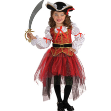 Party Carnival Girls Children Pirate Costume For Kids Princess Of The Seas Girls Costume Party Childrens Fancy Dress L15286