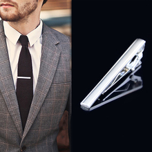 Fashion Men Necktie Tone Metal Simple Tie Clip Decor Color Silver High Quality(China)