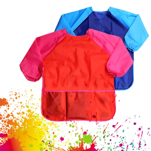 Children Baby Todder Waterproof Long Sleeve Art Smock Apron Eating Smock for Painting Art Class Art Craft Painting Apron avental
