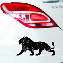20CM*10CM The Lion car stickers SUPER LARGE black white reflective car styling covers accessories wall head tail