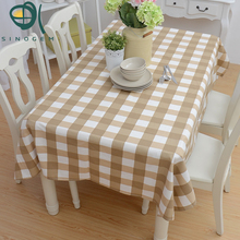 Sinogem Tablecloth Country Style Rectangular Lattice Pattern Printing Hotel Party Tablecloth Dining Coffee Table Cloth(China)
