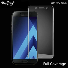 Wolfsay Screen Protector For Samsung Galaxy A3 2017 A320 Nano Clear Soft TPU Film (Not Tempered Glass) for Samsung A3 2017 Film(China)