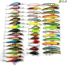 2016 Minnow HENGJIA 43pcs/lot Fly Fishing Lure Set China Hard Bait Jia Lure Wobbler Carp 6 Models Fishing Tackle wholesale(China)