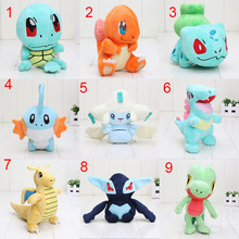 11~22cm Pocket doll plush Treecko Jirachi Totodile Dragonite Charmander Mudkip Squirtle Bulbasaur Lugia Plush Toys
