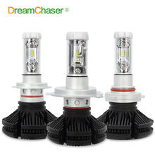 Dream Chaser Super Bright Car Headlights H7 LED HB3/9005 H8/H11 HB4/9006 H4 LED 50W 6000lm Auto Front Bulb Automobile Headlamp