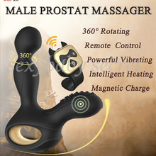 Buy Wireless Remote Control Heating 5 Rotating 10 Vibration Male Prostate Massager Anal Butt Plugs G-Spot Vibrator Sex Toys Men