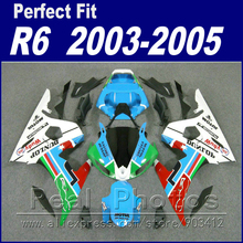 Brand new motorcycle parts for YAMAHA R6 fairing kit 2003 2004 2005 blue white red YZF fairings 03 04 05